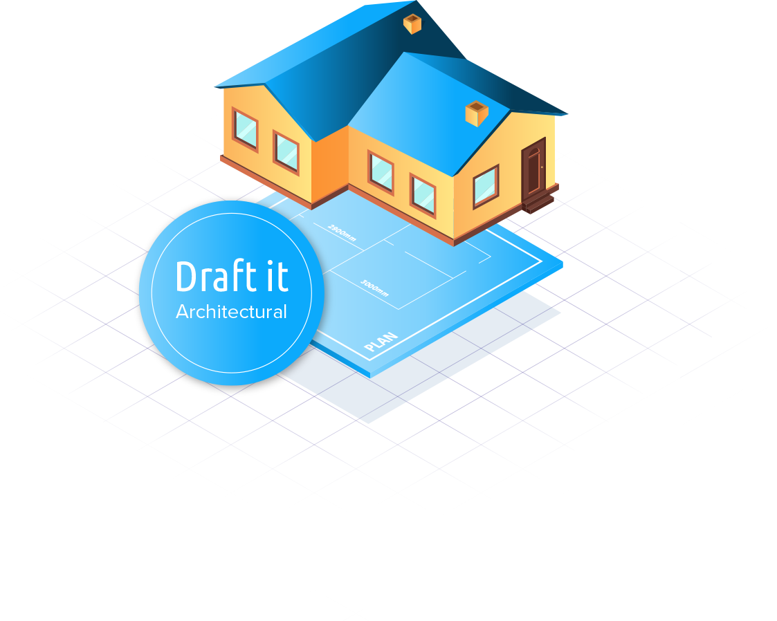 Draft it architectural cad software logo image
