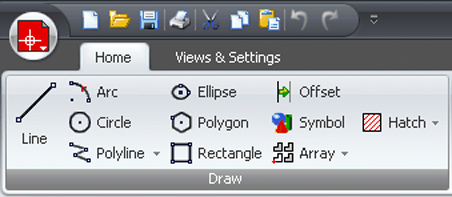 Draft it plus cad software user interface example image