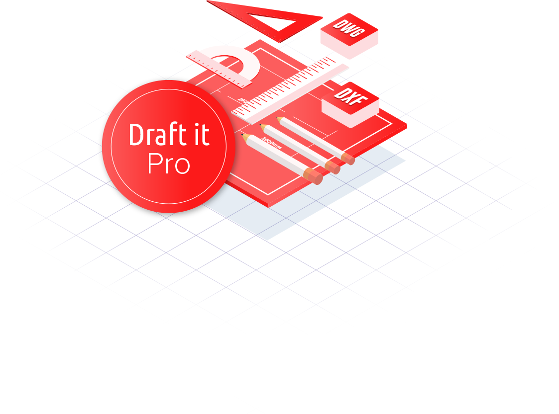 Draft it pro cad software logo image