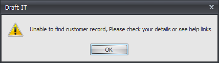 cant find customer record example image
