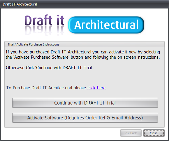 Draft it Architectural activate or continue choice image
