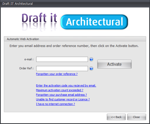 Draft it Architectural automatic web activation image
