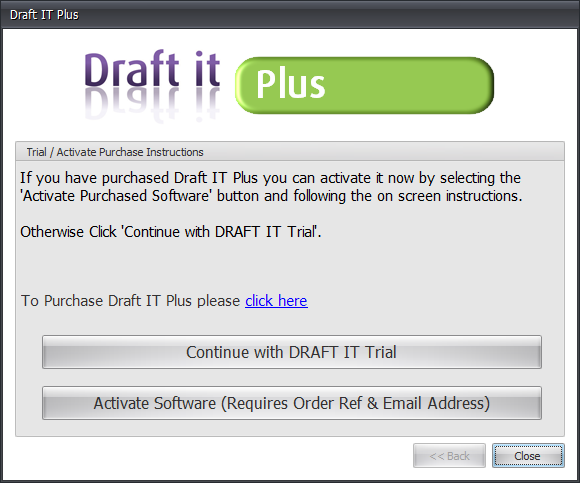 Draft it Plus activate or continue choice image