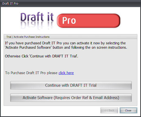 Draft it Pro activate or continue choice image